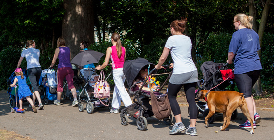 Ladies Pushing Prams